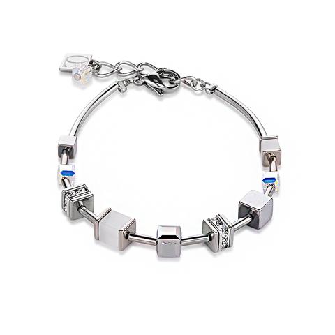 Браслет Coeur de Lion 4893/30-1400 цвет серебряный, белый, серый
