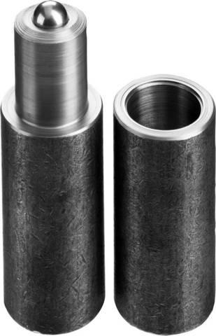Петля СИБИН для металлических дверей, галтованная, цилиндрической формы, с впрессованным шариком, 34х140мм