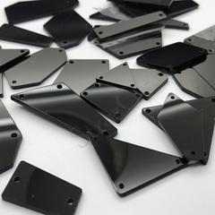 Купить пришивные зеркала оптом набор из 70 штук черные