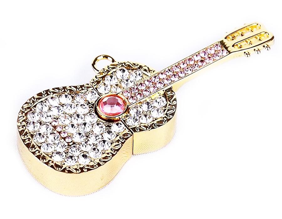 usb-флешка гитара со стразами