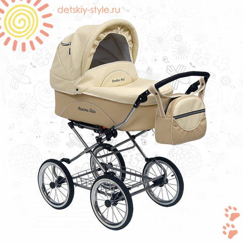 "Коляска Stroller B&E ""Maxima Elite XL Кожа"" 3в1"