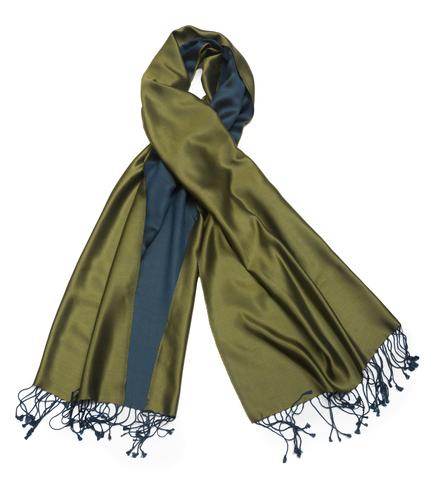 Плед-шарф 50х180 AM Paris Paraty синий-зеленый