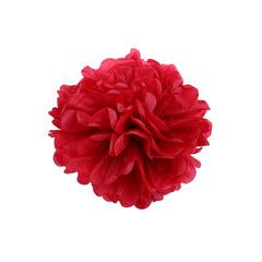 Помпон из бумаги 20 см красный