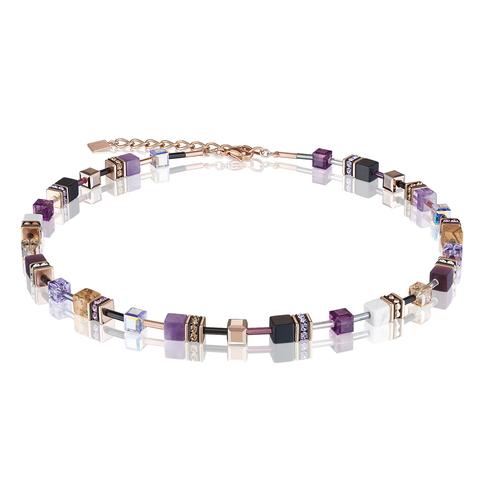 Колье Coeur de Lion 4905/10-0836 цвет фиолетовый, бежевый