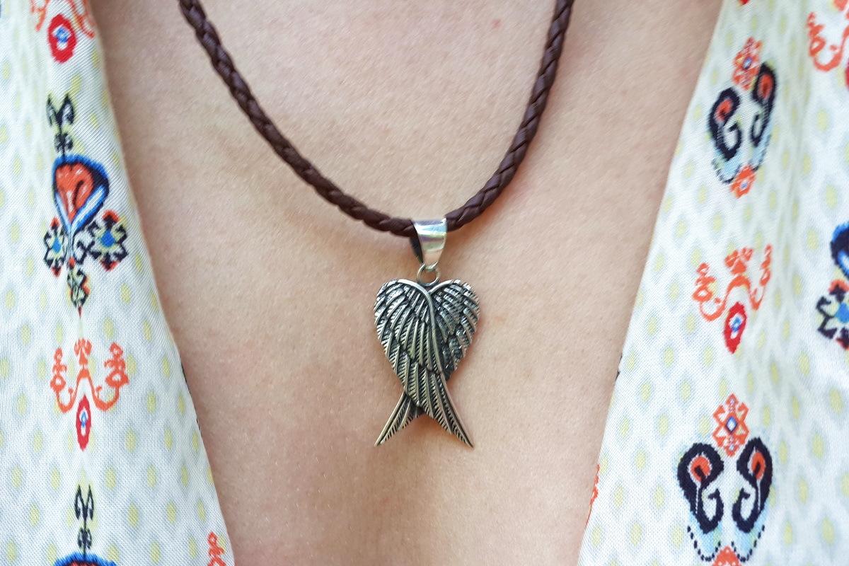 Angel Wings Pendant, Sterling Silver