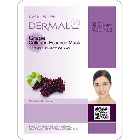 Dermal Маска д/лица ткан. виноград и коллаген - Grape Collagen Essence Mask, 23 гр