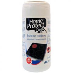 Салфетки Home Protect для ухода за стеклокерамикой влажные 60шт.