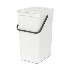 Ведро для мусора Brabantia Sort&Go белое 16л