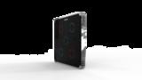 Выключатель пятиканальный Heltun (Чёрная панель, Хромированная рамка)