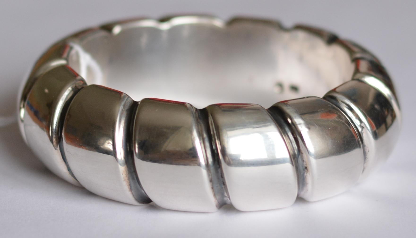 Насечка (браслет из серебра)