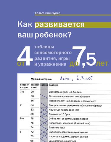 Как развивается ваш ребенок? Таблицы сенсомоторного развития, игры и упражнения: От 4 до 7,5 лет. Изд. 4