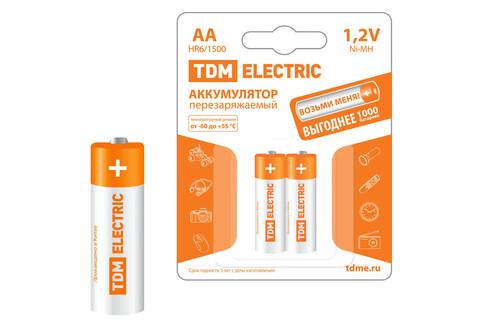 Аккумулятор AA-1500 mAh Ni-MH BP-2 TDM