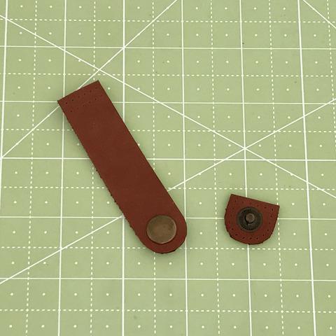 Ремешок для кошелька на кнопке 8 см. (Коричневый)