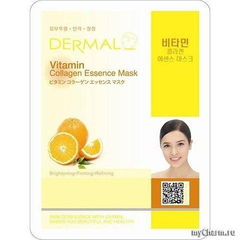 DERMAL Маска д/лица ткан. ВИТАМИН С И КОЛЛАГЕН Vitamin Collagen Essence Mask, 23 гр