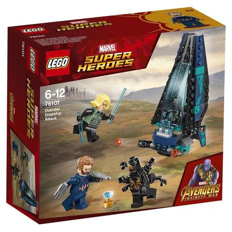 LEGO Super Heroes: Атака всадников 76101 — Outrider Dropship Attack — Лего Супергерои Марвел
