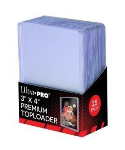 Ultra Pro - Жесткие прозрачные премиум протекторы (toploader) 25 штук