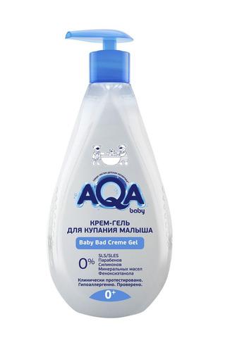 AQA baby. Крем-гель для купания малыша 0+, 400 мл