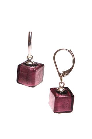 Серьги Perla Cubo фиолетовые