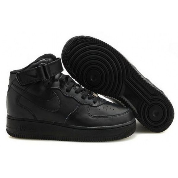 0578f3f5 Nike-Air-Force-High-Black-Krossovki-Najk-Аir-Air -Fors-Vysokie-Chernye-zimnie-Mehovye