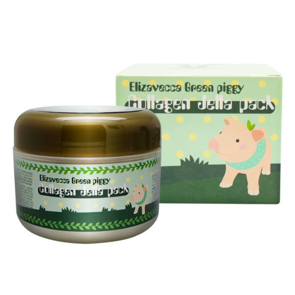 Купить Маска для лица коллагеновая Elizavecca Green Piggy Collagen Jella Pack 100г (Маски)