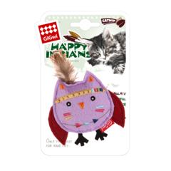 Gigwi игрушка для кошек сова с кошачьей мятой