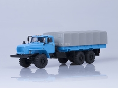 Ural-4320-0911 board with awning long wheelbase 4555 mm blue 1:43 AutoHistory