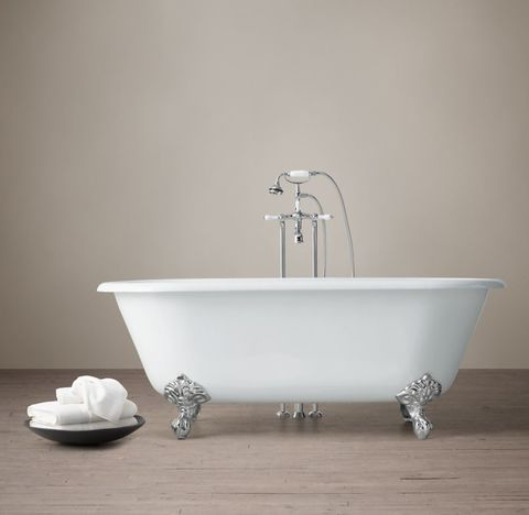 Vintage Imperial Clawfoot Tub with Lever-Handle Tub Fill - Metal Feet