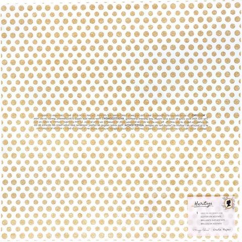 Ацетатный лист  30 х30 см Gratitude W/Gold Glitter