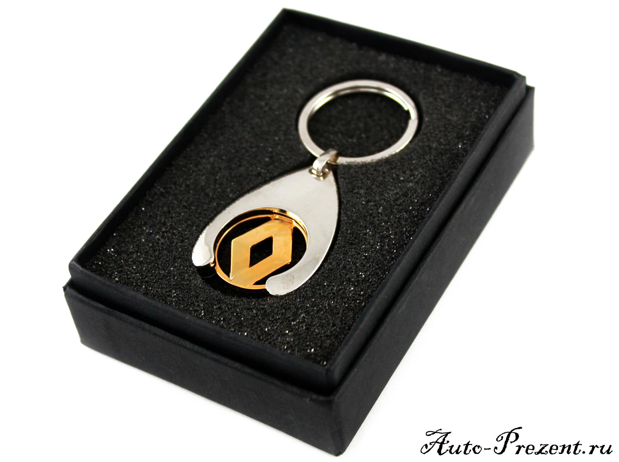 Брелок для ключа зажигания RENAULT (Хром\Золото)
