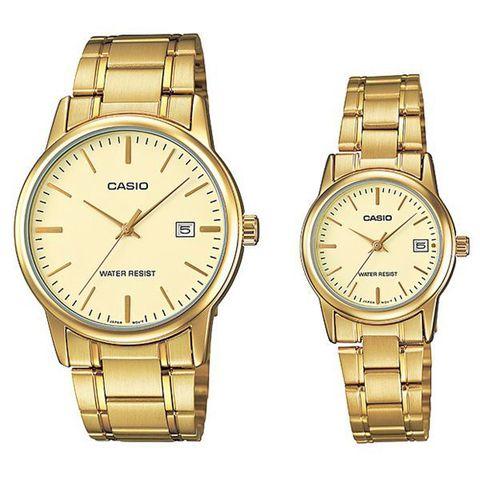 Купить Парные часы Casio Standard: MTP-V002G-9AUDF и LTP-V002G-9AUDF по доступной цене