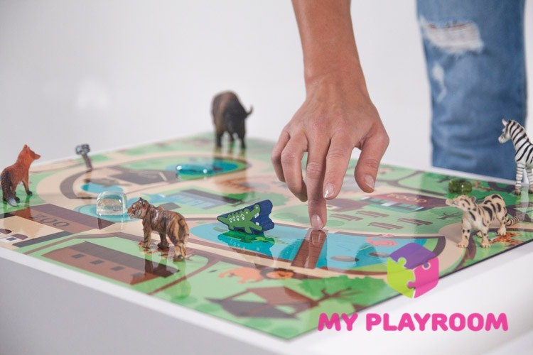 Игровое поле зоопарк для светового стола myplayroom