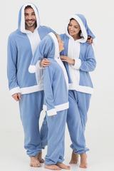 "Пижама-кигуруми Футужама ""Санта"" голубой"