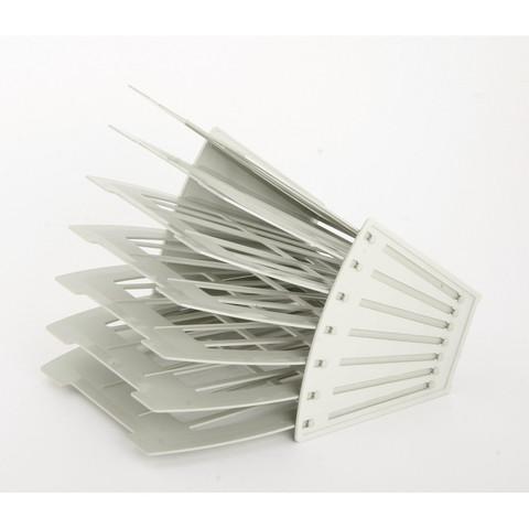 Лоток для бумаг Attache сборный на 6 отделений Серый