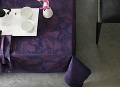 Скатерть и комплект салфеток Blanc des Vosges Flora cassis