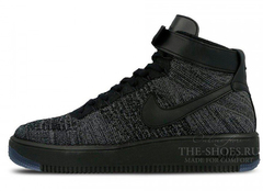 Кроссовки Мужские Nike Air Force Mid Flyknite Black