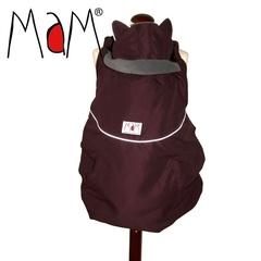 Зимняя накидка для слингоношения с шапочкой для малыша МаМ Winter Cover, Бордовый/Серый