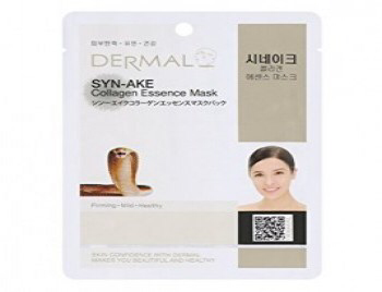 DERMAL Маска д/лица ткан. ЗМЕИНЫЙ ПЕПТИД и КОЛЛАГЕН - антивоз. Syn-Ake Collagen Essence Mask, 23гр