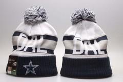 Шерстяная вязаная шапка футбольного клуба DAL (NFL) с помпоном