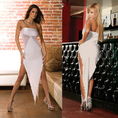 Белоснежное платье-бандо SEXY CORNER. CL081