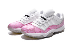 Air Jordan 11 Retro Low 'White/Pink'