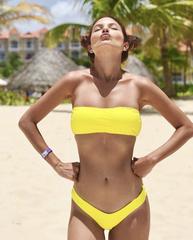 купальник раздельный бандо бразильяно яркий желтый