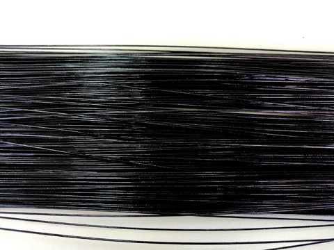 Проволока в обмотке, цвет черный, 1мм.