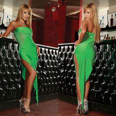 Изумрудное платье-бандо SEXY CORNER. CL081