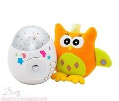 Roxi Kids. Игрушка и ночник-проектор звездного неба Colibri с совой