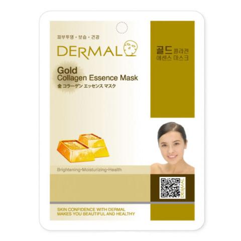 Dermal Маска д/лица ткан. коллоидное золото и коллаген - подтягивающая Gold Collagen, 23 гр