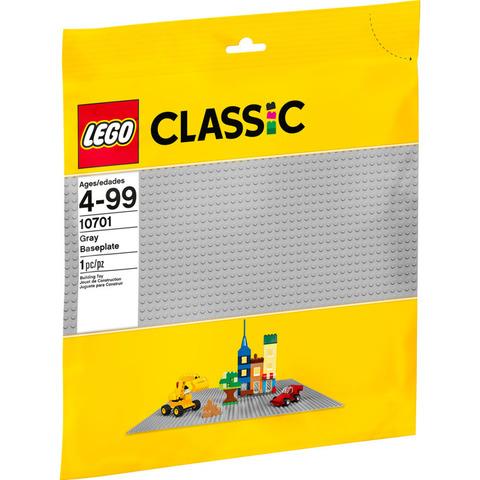 LEGO Classic: Строительная пластина серого цвета 10701 — 48x48 Grey Baseplate — Лего Классика