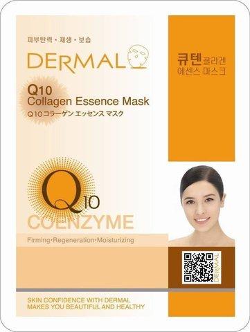 Dermal Маска д/лица ткан. коэнзим Q10 и коллаген - упругость Collagen Essence Masк, 23 гр