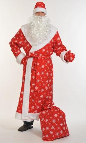 Костюм Дед Мороз красный Плюш