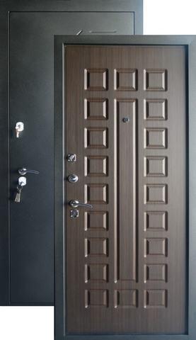 Дверь входная Форт  Б-31, 2 замка, 1,2 мм  металл, (чёрный шёлк+венге)