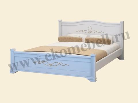 Кровать *Соната* белая